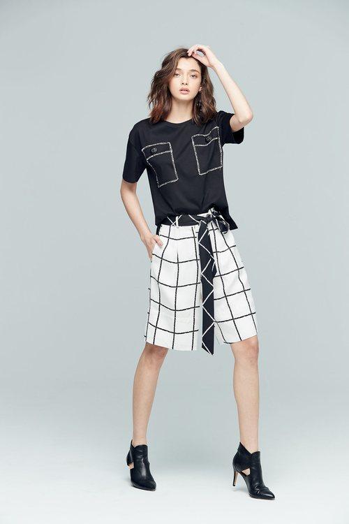 簡約格紋經典短褲