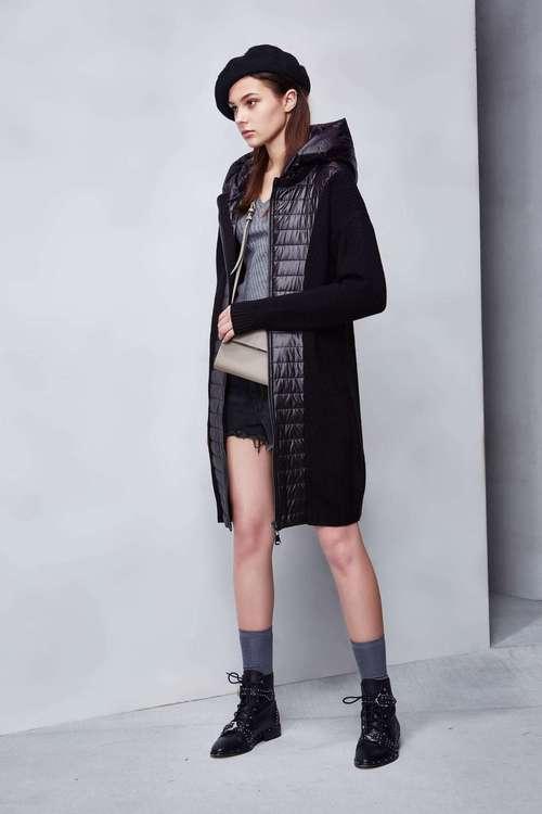 異材質街頭針織外套