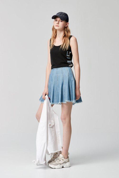 傘型牛仔短裙