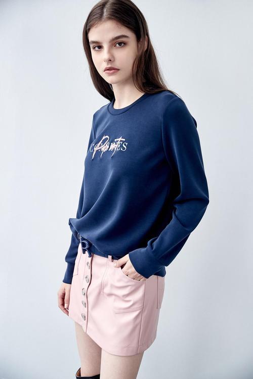 繡花長袖T恤