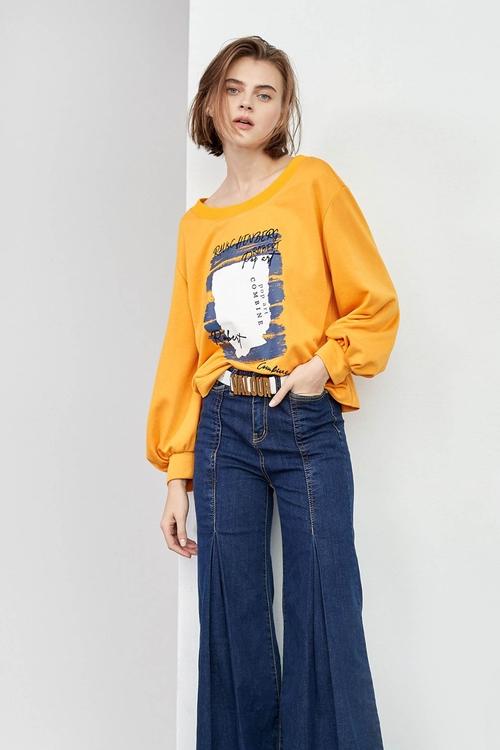 羅紋小蓬袖T恤