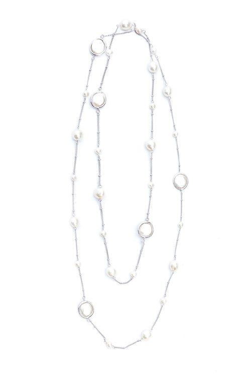 不規則珍珠長項鍊