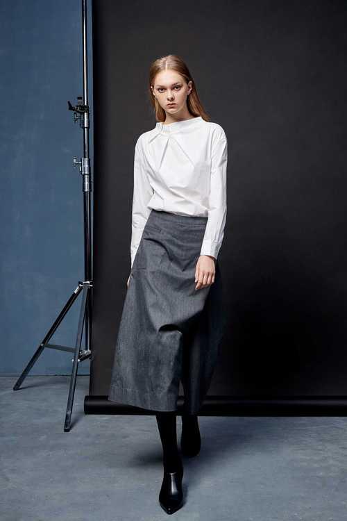 不對稱剪裁設計款長褲裙