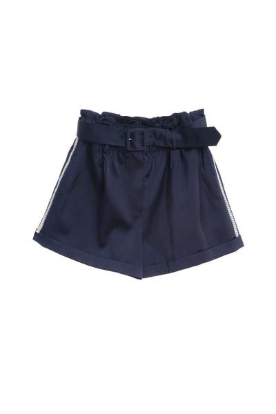 緞面燙鑽時尚時尚短褲