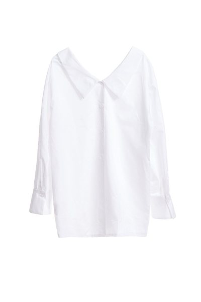 反開襟落肩經典時尚襯衫